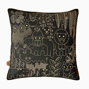 Black Jungle Cushion by Andrea Ovari for Anuka, 2019