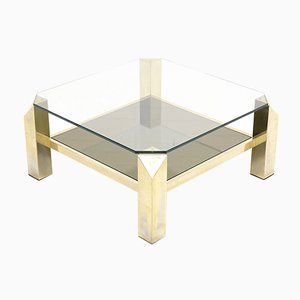 Belgian Gold Plated Coffee Table from Belgo Chrom, 1970s