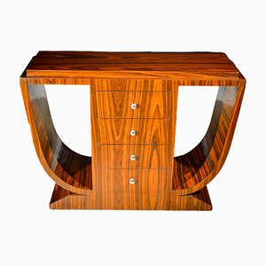 Rosewood Art Deco 4-Drawer Console Table, 1930s