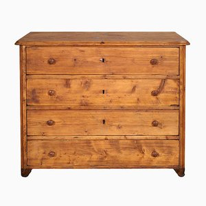 18th-Century Italian Rustic Solid Pine Chest of Drawers, 1750s