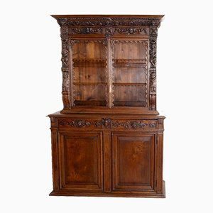 16th-Century Ligurian Carved Oak & Chestnut Credenza