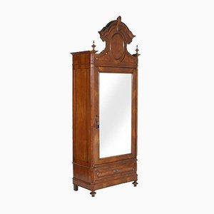 Louis Philippe Style Carved Walnut Wardrobe, 1850s