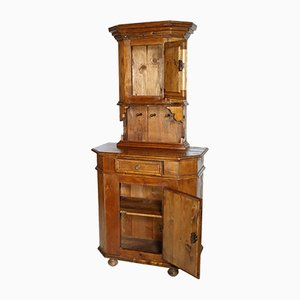 Mobiletto tirolese in legno di pino, XIX secolo