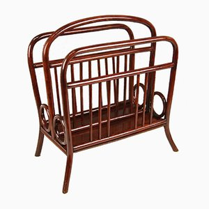 Antique Art Nouveau Model 33 Magazine Rack from Thonet