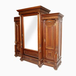 19th-Century Italian Carved Walnut Wardrobe