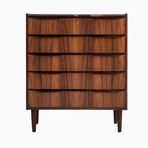 Mid-Century Danish Rosewood Chest of 5 Drawers, 1960s