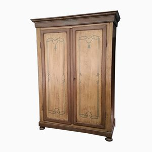 18th-Century Venetian Rustic Wardrobe with Decorations
