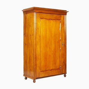 19th Century Biedermeier Birch Cupboard