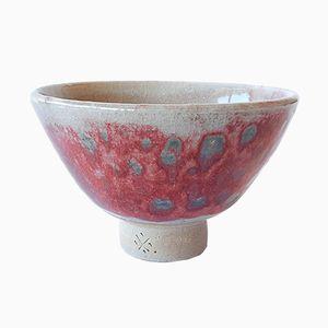 Teetasse aus weißem Steingut mit pfirsichroter Glasur von Marcello Dolcini, 2019
