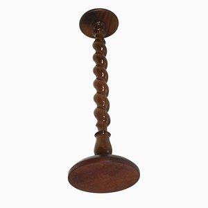 Gedrechselte Säule aus Nussholz im Renaissance-Stil, 1930er