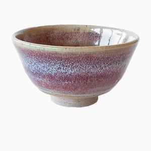 Tazza da tè in gres bianco e smaltata color rosso scuro flambè di Marcello Dolcini, 2019