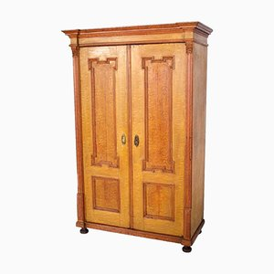 Antique Austrian Neoclassical Painted Larch Wardrobe, 1850s