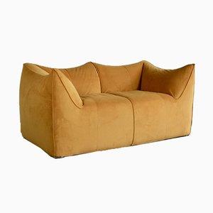 Bambusfarbenes Vintage 2-Sitzer Sofa von Mario Bellini für B&B Italia, 1970er