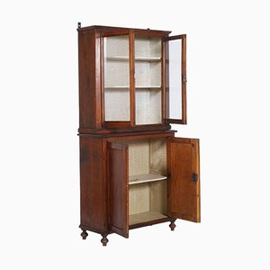 19th Century Pine Country Display Cabinet