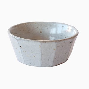 Faceted Tea Bowl with Nuka Glaze by Marcello Dolcini, 2019