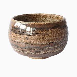 Handmade Stoneware Tea Cup with Ash & Kaki Glaze by Marcello Dolcini, 2018