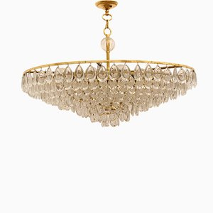 Large Vintage Chandelier by Christoph Palme for Palwa