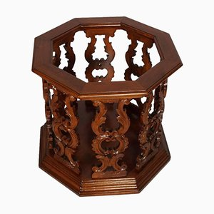 Antique Italian Walnut Wood Umbrella Stand by Testolini & Salviati