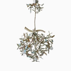 Art Nouveau Bronze Mistletoe Chandelier