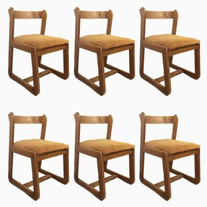 Vintage Italian Dining Chairs by Willy Rizzo for Mario Sabot, 1970s, Set of 6