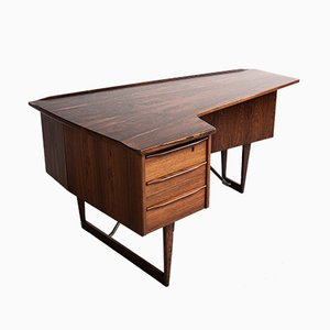 Rosewood Boomerang Desk by Peter Løvig Nielsen for Hedensted, 1960s
