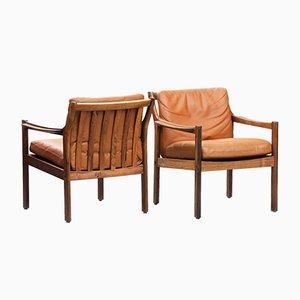 Dänische Mid-Century Sessel mit Gestell aus Palisander, 1960er, 2er Set