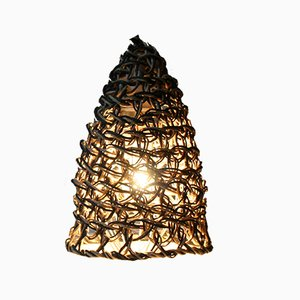 Lámpara de mesa Baladeuse de macramé negro de BEST BEFORE