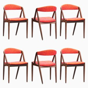 Mid-Century Modern Rosewood No. 31 Dining Chairs by Kai Kristiansen for Schou Andersen, Set of 6