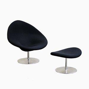 Big Globe Sessel & Fußhocker von Pierre Paulin für Artifort, 2000er