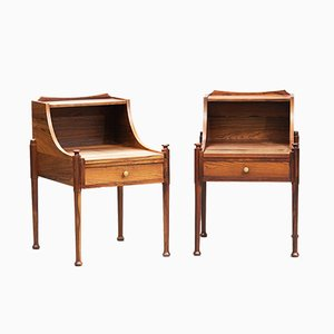 Mid-Century Danish Modern Rosewood Nightstands, 1960s, Set of 2