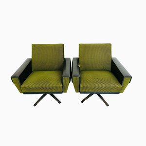 Mid-Century Green Corduroy Armchairs, 1960s