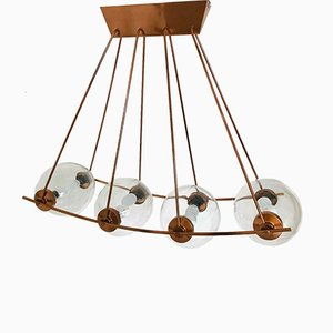 Vintage 8-Light Chandelier by Osvaldo Borsani, 1950s