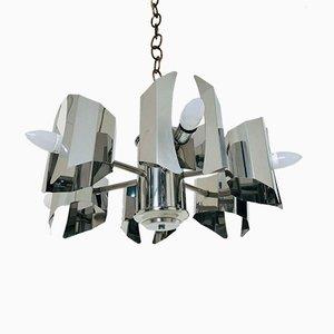 Lámpara de araña Mid-Century con seis puntos de luz, años 60