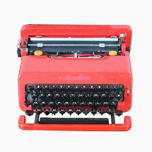 Macchina da scrivere rossa portabile di Ettore Sottsass per Olivetti Synthesis, 1969