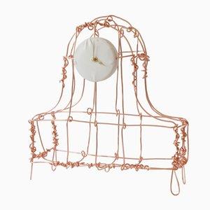 Floating Frames Copper Mantel Clock by Kiki Van Eijk & Joost Van Bleiswijk