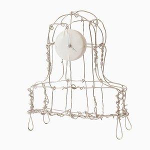 Floating Frames Nickel Plated Mantel Clock by Kiki Van Eijk & Joost Van Bleiswijk