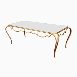 Vintage Wrought Iron Coffee Table by René Prou