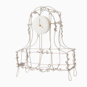 Orologio da mensola smerigliato, placcato in rame e nichelato di Kiki van Eijk & Joost van Bleiswijk