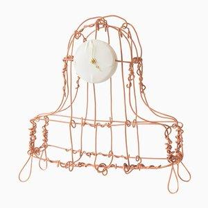 Reloj de repisa Floating Frames de cobre arenado de Kiki Van Eijk & Joost Van Bleiswijk