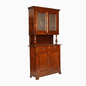 Antique French Walnut and Pine Provencal Cupboard