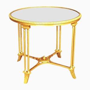 Mesa de centro vintage de bronce dorado de Maison Jansen