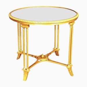 Vintage Gold Bronze Coffee Table from Maison Jansen