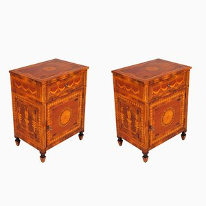 19th Century Neoclassical Lombard Bedside Tables, Set of 2