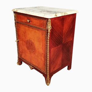Vintage Leather-Clad Cabinet from Atelier Faubourg Saint Antoine