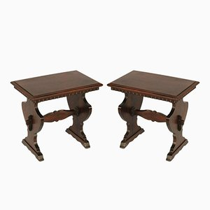 Antique Tuscan Renaissance Stools, Set of 2