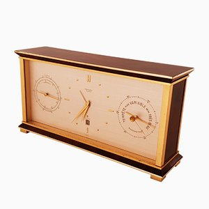 Vintage Brass & Lacquer Clock from Hermes