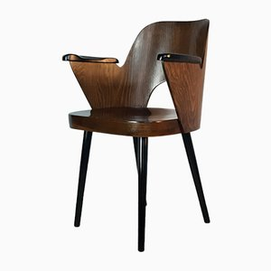 Mid-Century Czechoslovak Model 1515 Walnut Veneer Chair by Oswald Haerdtl for TON