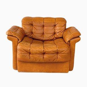 Club chair DS-11 in pelle patchwork di de Sede, anni '70