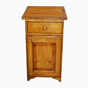 Antique Rustic Nightstand Cabinet