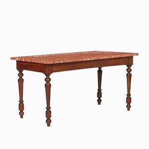 Tavolino da caffè Verona antico rinascimentale con ripiano in marmo di di Ebanisteria Bovolone